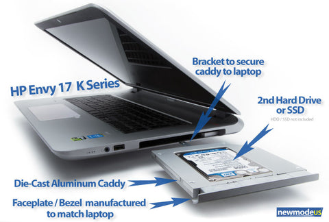 HP Envy 17 -K000, -K100, -K200 (and M7) 2nd HDD / SSD Caddy