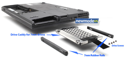 7mm HDD SSD Rails, Caddy for Lenovo ThinkPad, compare to 04w1716 - Newmode Electronics