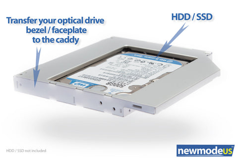 2nd HDD Caddy, Universal to fit in 12 7mm optical DVD drive