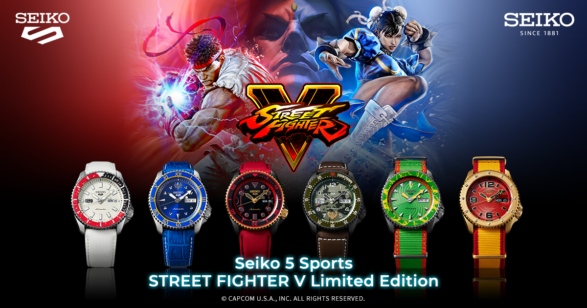 Seiko 5 Sports Street Fighters V Limited Edition