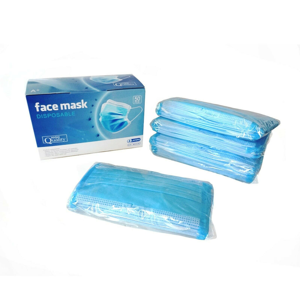 2500 Psc. Quality 4 Layers Protection Face Cover Adult Unisex.