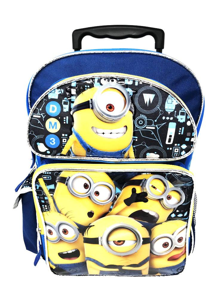"""NEWEST Despicable Me Minions Mini Backpack School Bag 10/"""" Licensed by Disney"""