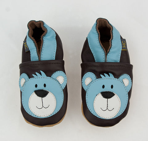 Leather Brown Bear Infant Shoe