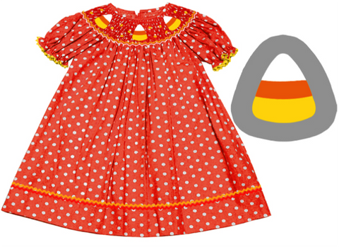 Candy Corn Bishop Dress