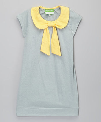 Grey Collar Dress
