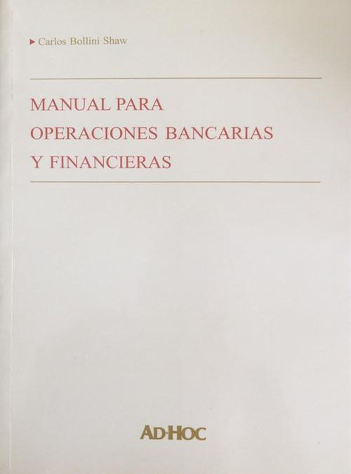 Manual para operaciones bancarias y financieras