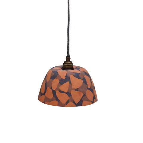 Pressed Terracotta Lampshade