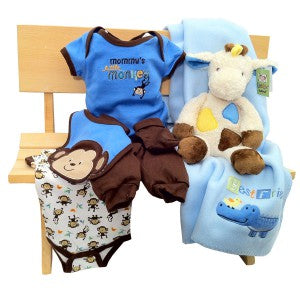 baby boy bench gift basket
