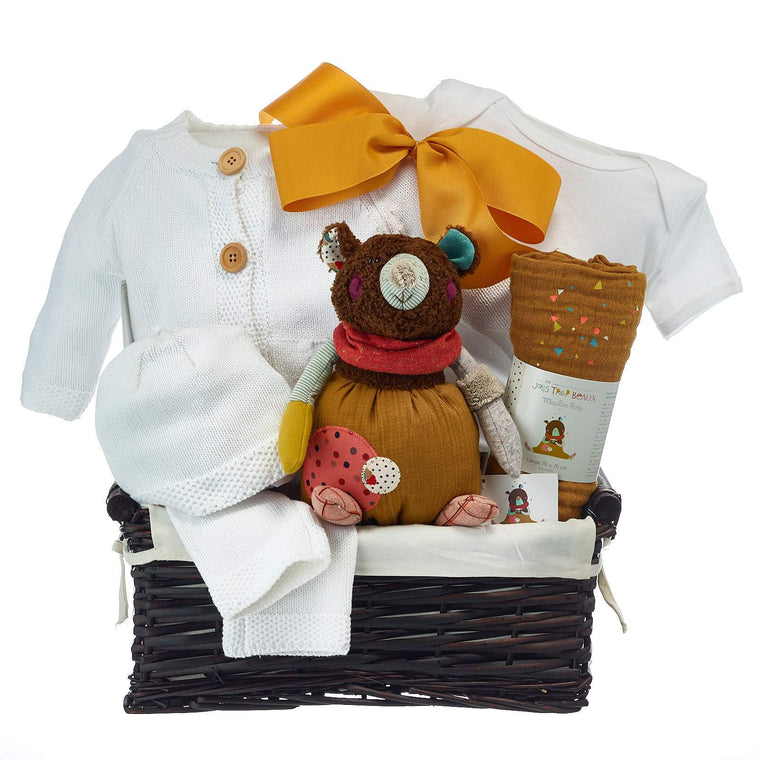 Premium Neutral Baby Gift Baskets