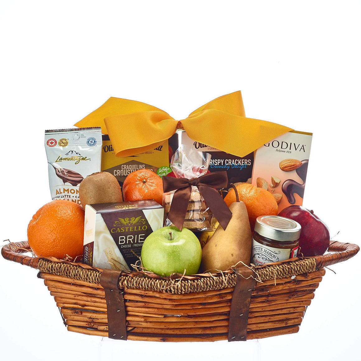 Fruit Basket with Cheese and Compote