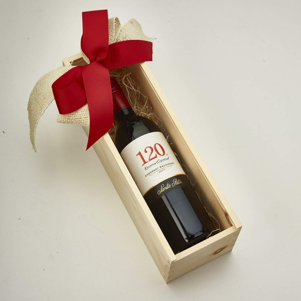 Wine In Wooden Box