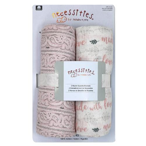 Baby Girl Swaddle Blanket 2 Set