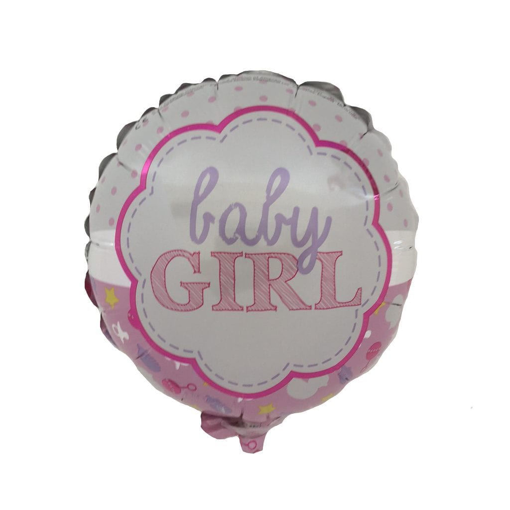 baby girl pink balloon