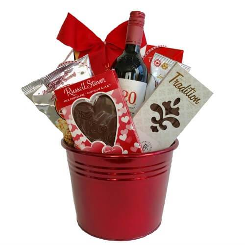 Wine Valentines Gift Baskets