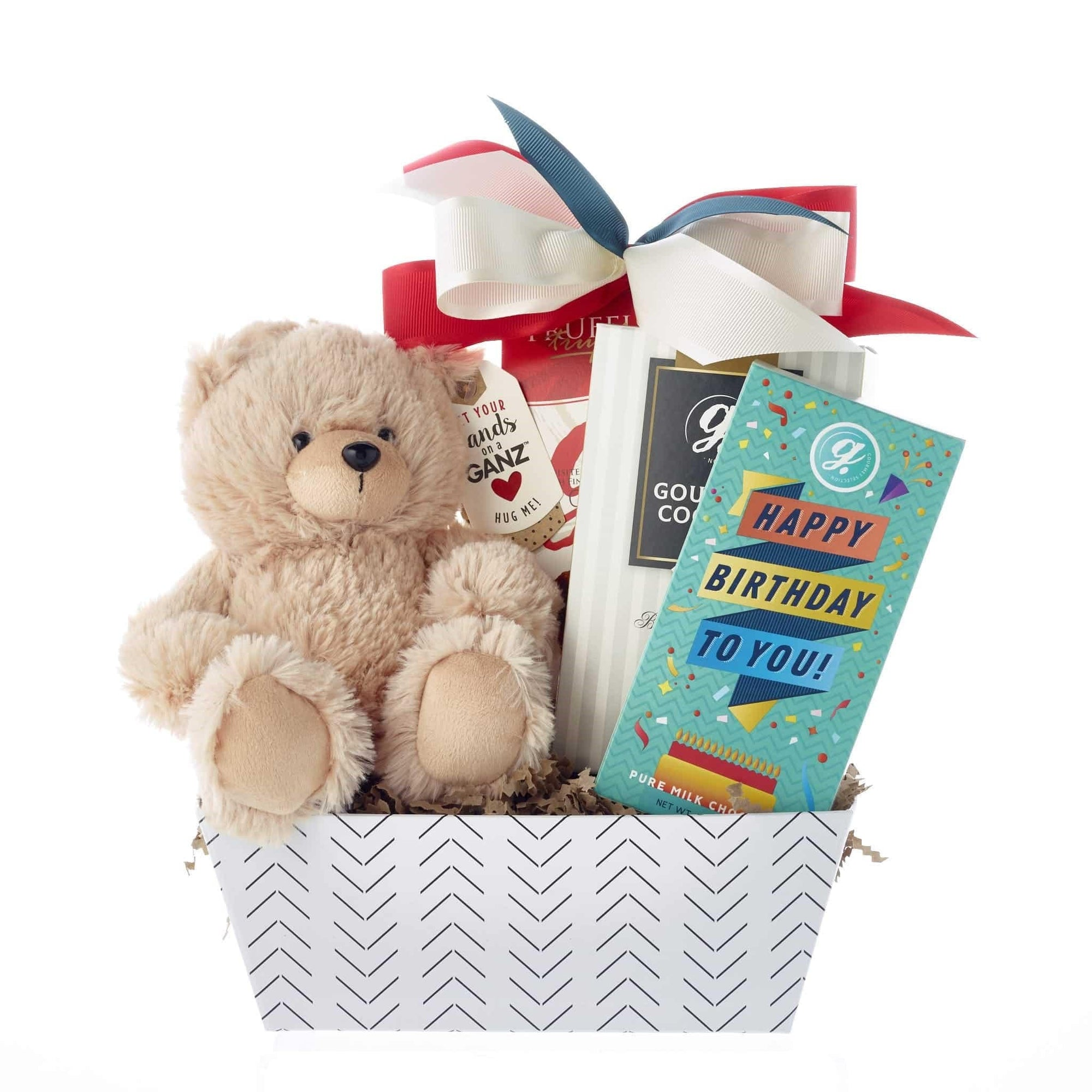 bear, truffles and cookies birthday gift