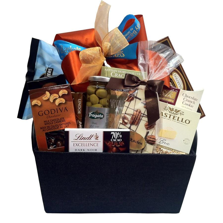 Gourmet sweet and savoury gift baskets
