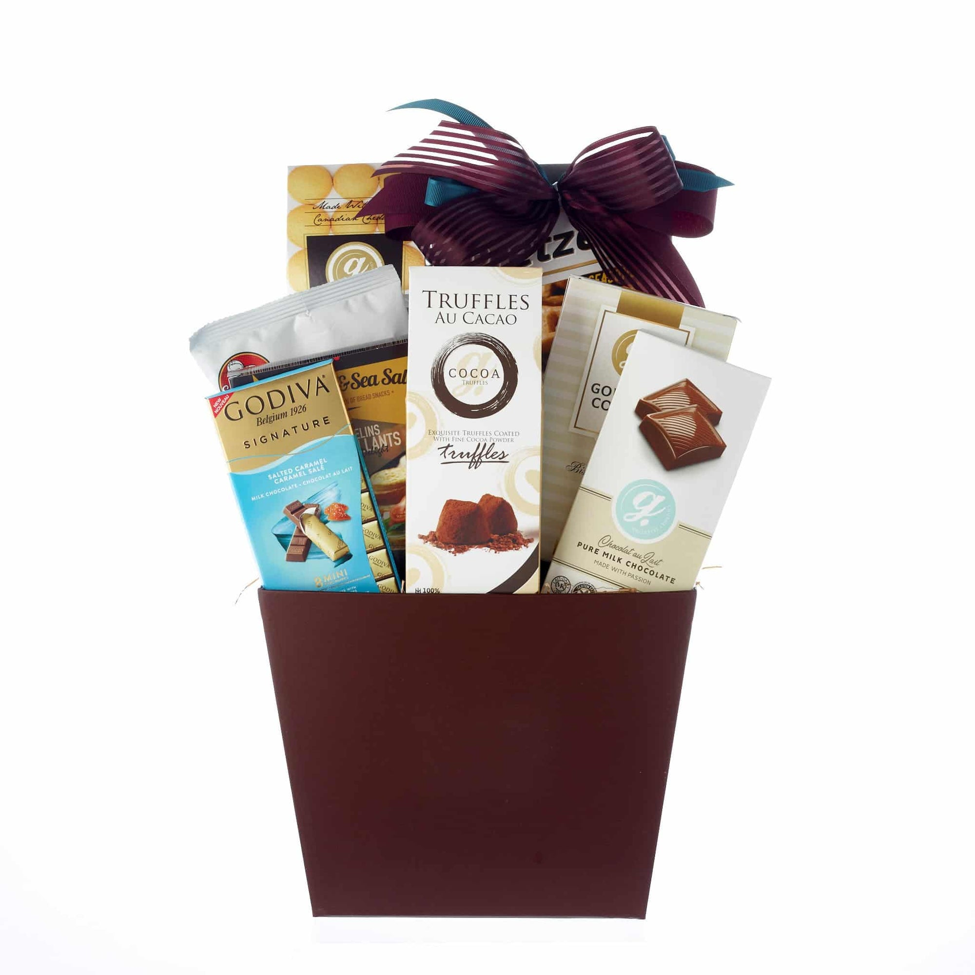 Sympathy gift basket with gourmet foods
