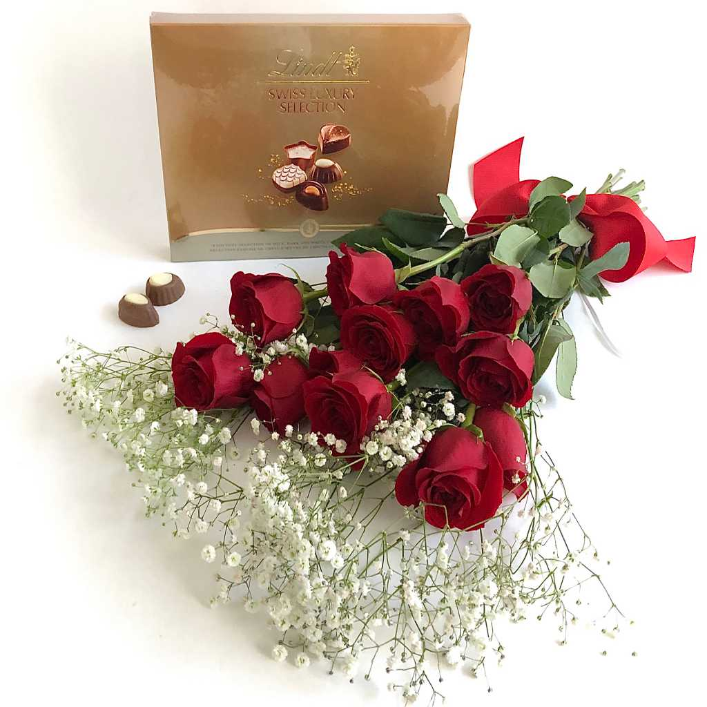 Lindt chocolates and red roses delivery Toronto