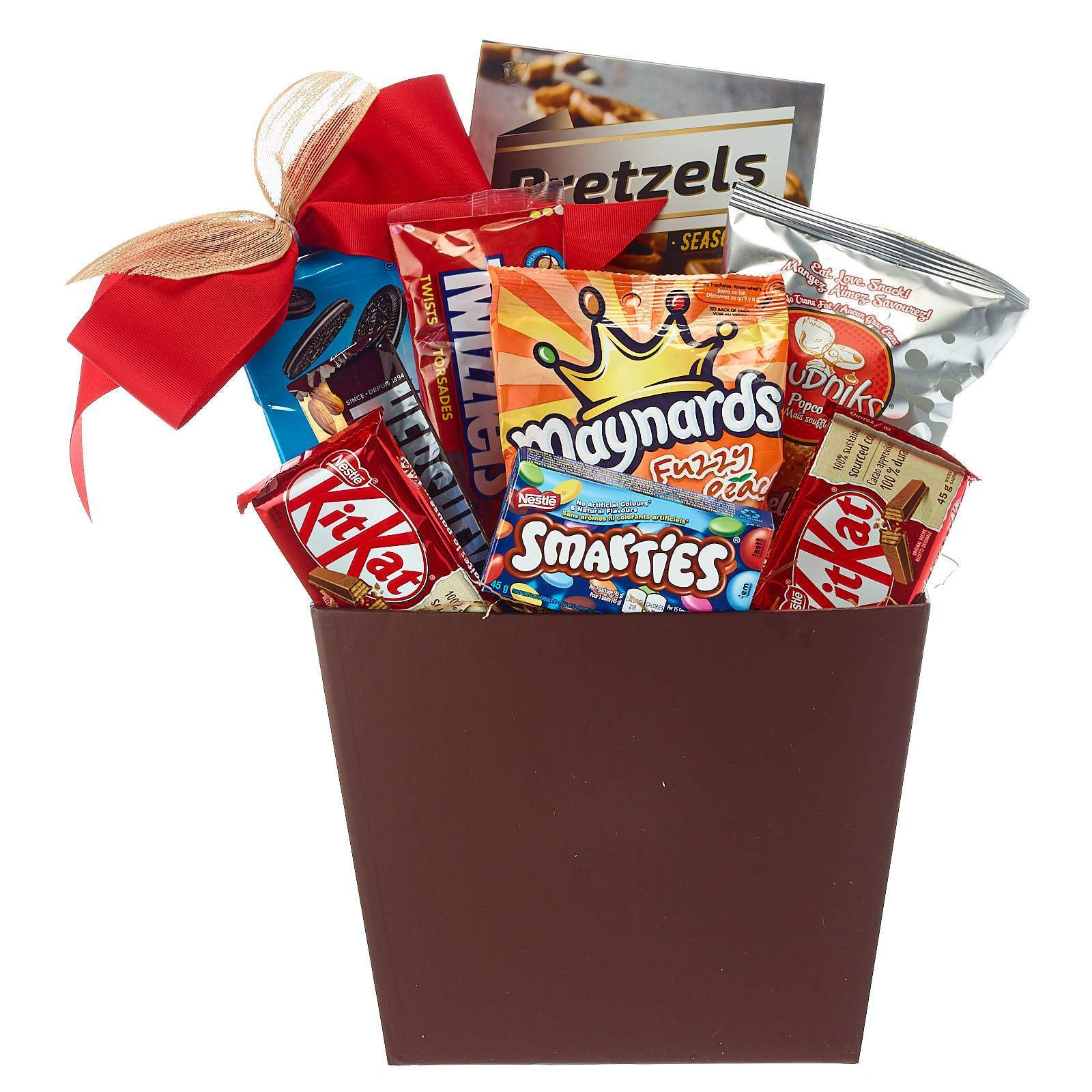 Candy and chocolate gift basket