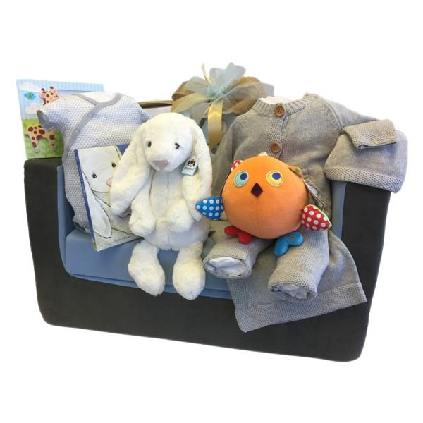 Reading Sofa for Baby Boy Gift Basket in Canada