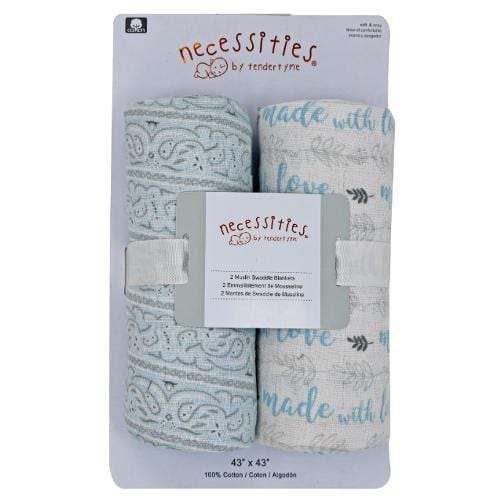 Baby Boy Swaddle Blanket Pack of 2 Set