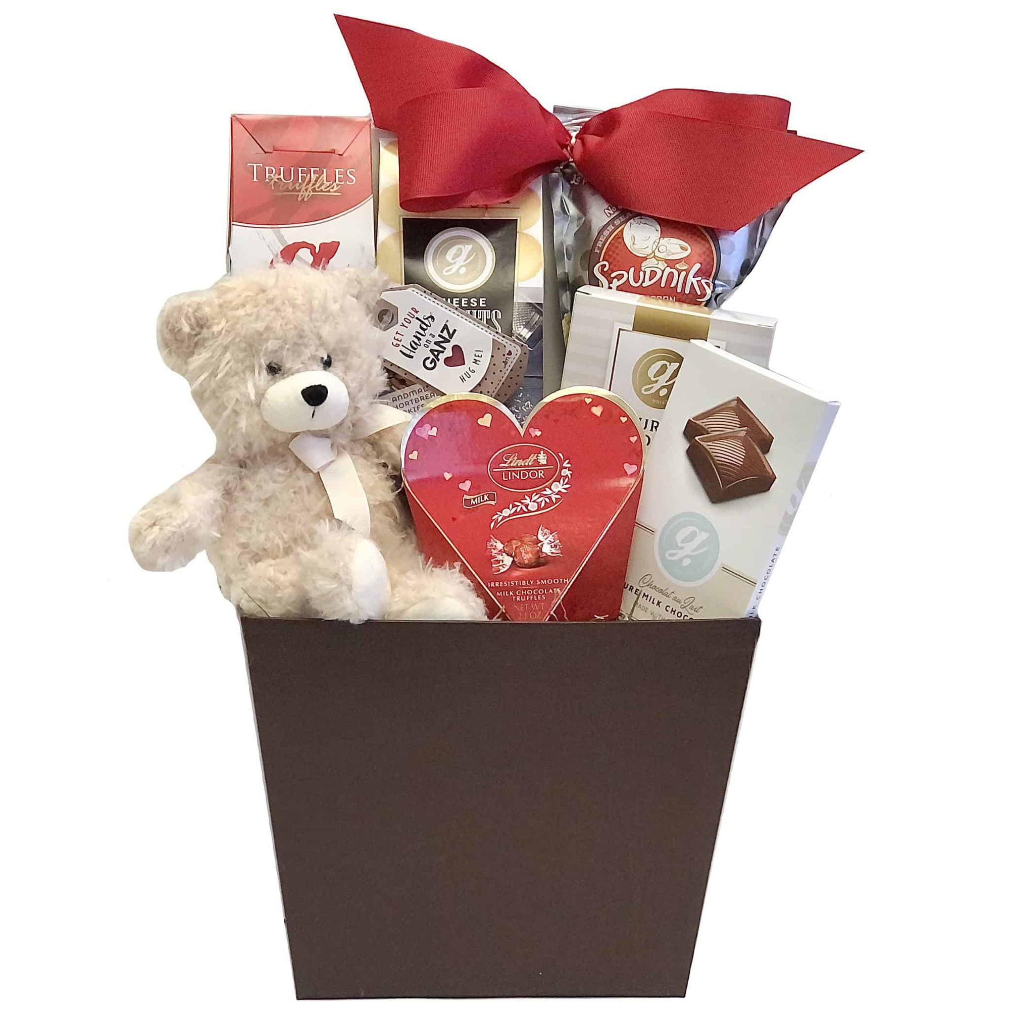 Valentines Gift Baskets With Bear