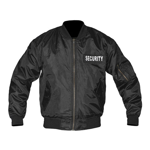 Security Bomber Jacket with Reflective Patches