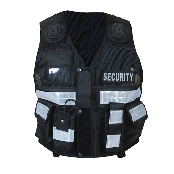 Overwatch TB2 Black Reflective Load Bearing Vest