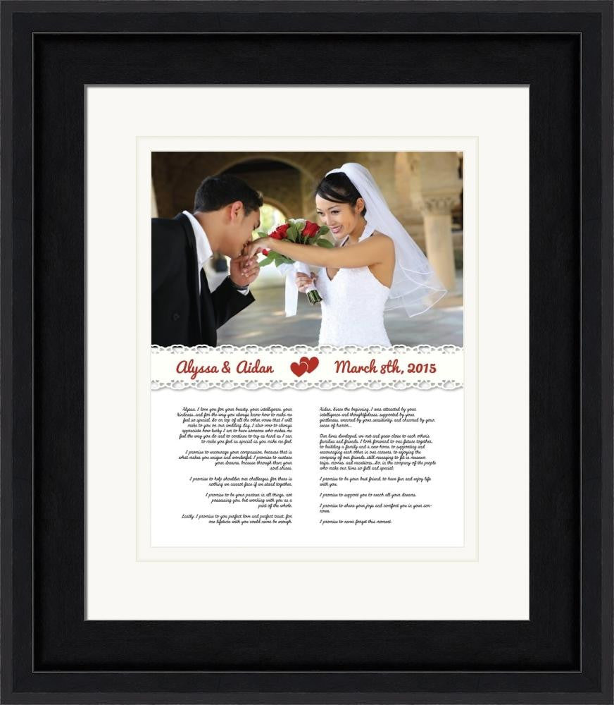 Lace - Customized Wedding Framed Art - After I Do Designs