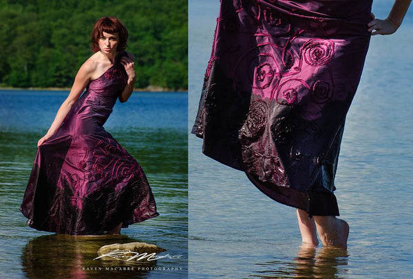 """Purple Haze"" Asymmetrical Gown"
