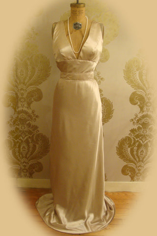 """Bold As Love"" Cowl Back Gown"