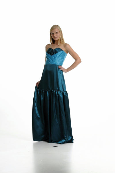 """Calypso"" Strapless Gown"