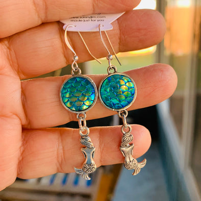 Mermaid Scale Dangle Earrings