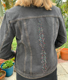 16 Jacket, Black Feathered Bling