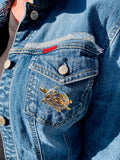 Denim Jacket, Turtle Pins