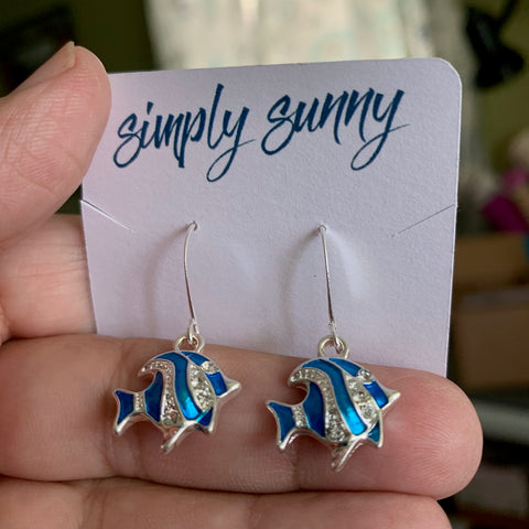 Blue Fish Earrings