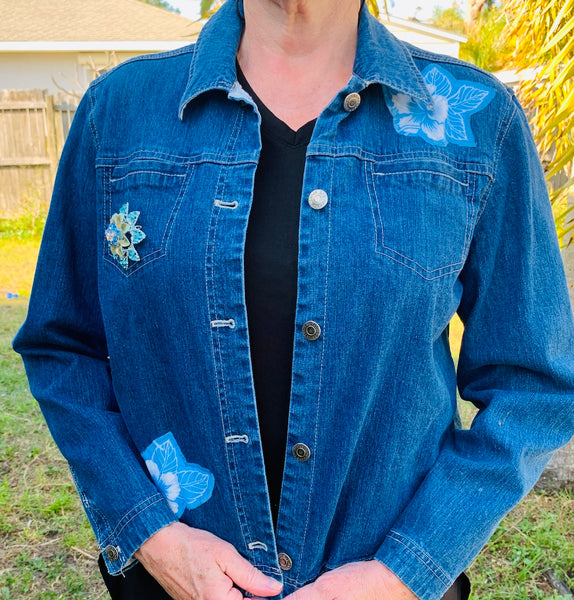 14 Jacket, Blue Flowers
