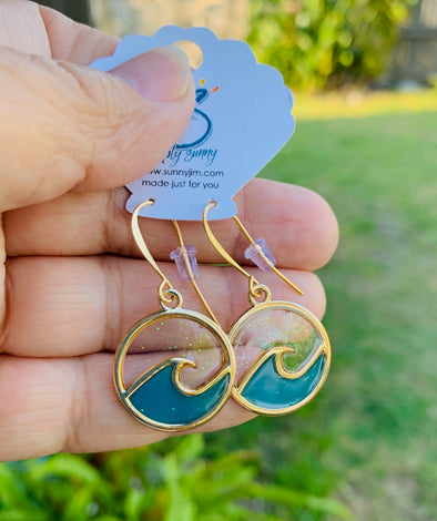 Blue Wave Earrings 2