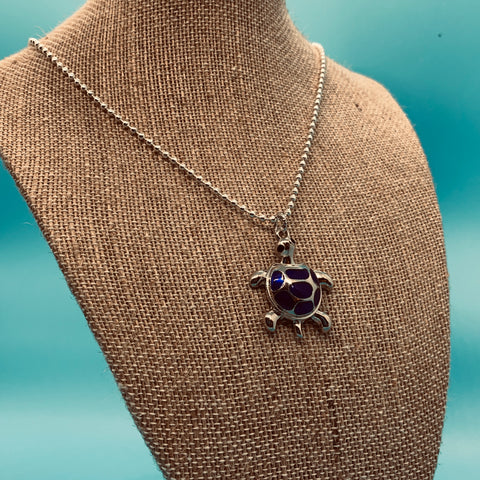 Blue Turtle Necklace