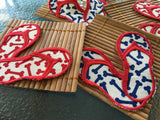Coasters (set of 4) - Bamboo, Wicker