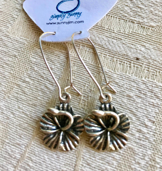 Hibiscus Earrings 2