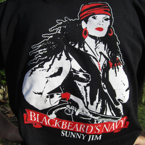 Blackbeard's Navy Women's Tee