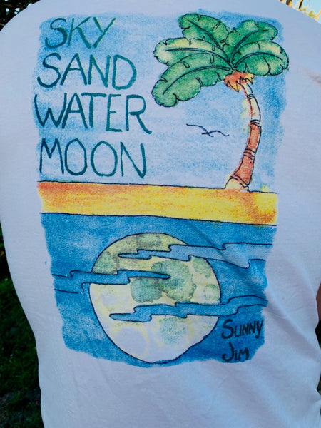 Sky Sand Water Moon T-shirt, Men
