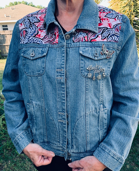 22 Upcycled Denim Jacket, Lucky Lady