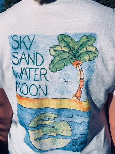 Sky Sand Water Moon T-shirt, Women