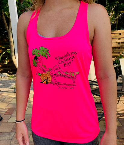Where's My Cabana Boy? Ladies Racerback Tank Top