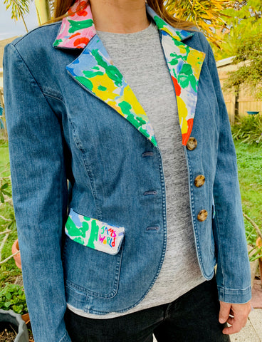 Denim Jacket, Blazer & Jams collar