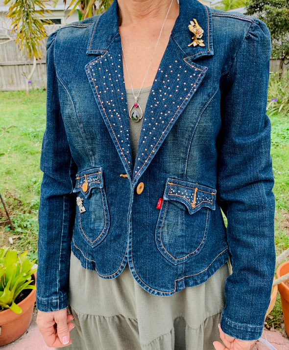 52 Upcycled Denim Levi Blazer