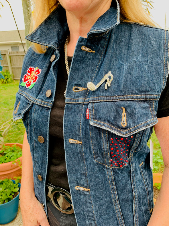 55 Upcycled Denim, Levis Vest