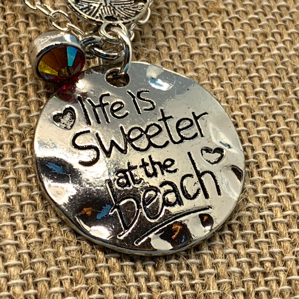 Life is Sweeter at the Beach Necklace